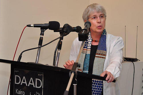 "Prof. Dr. Gudrun Krämer, Direktorin der ""Berlin Graduate School Muslim Cultures and Societies"", hielt die Keynote speech."
