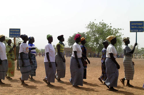 Internationaler Frauentag 2008 in Korgnegane, Provinz Bougouriba in Burkina Faso (Westafrika).
