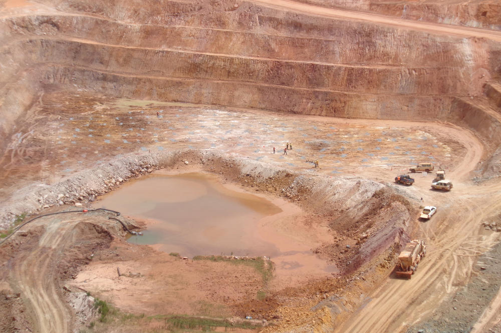 Industrielle Goldmine in Burkina Faso.