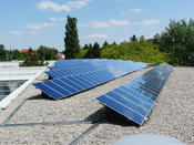 Green research: A 5,000 square meter solar roof on the physics building is environmentally friendly.