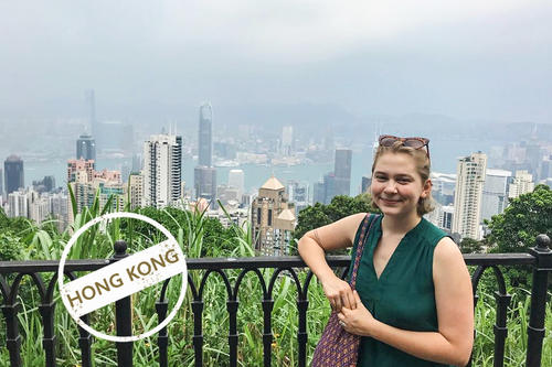 Great perspectives: Marie Funke is spending a year in Hong Kong.