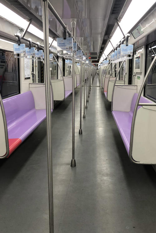 The subway is also empty.