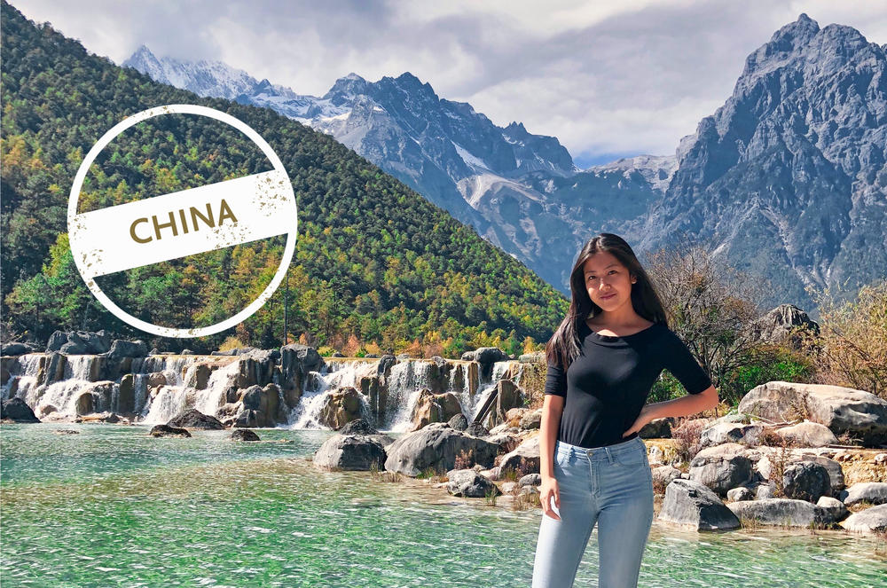 During her first semester, Vivi Feng explored many wonderful aspects of China: Here she is in Lijiang (丽江) in the southern Chinese province of Yunnan.