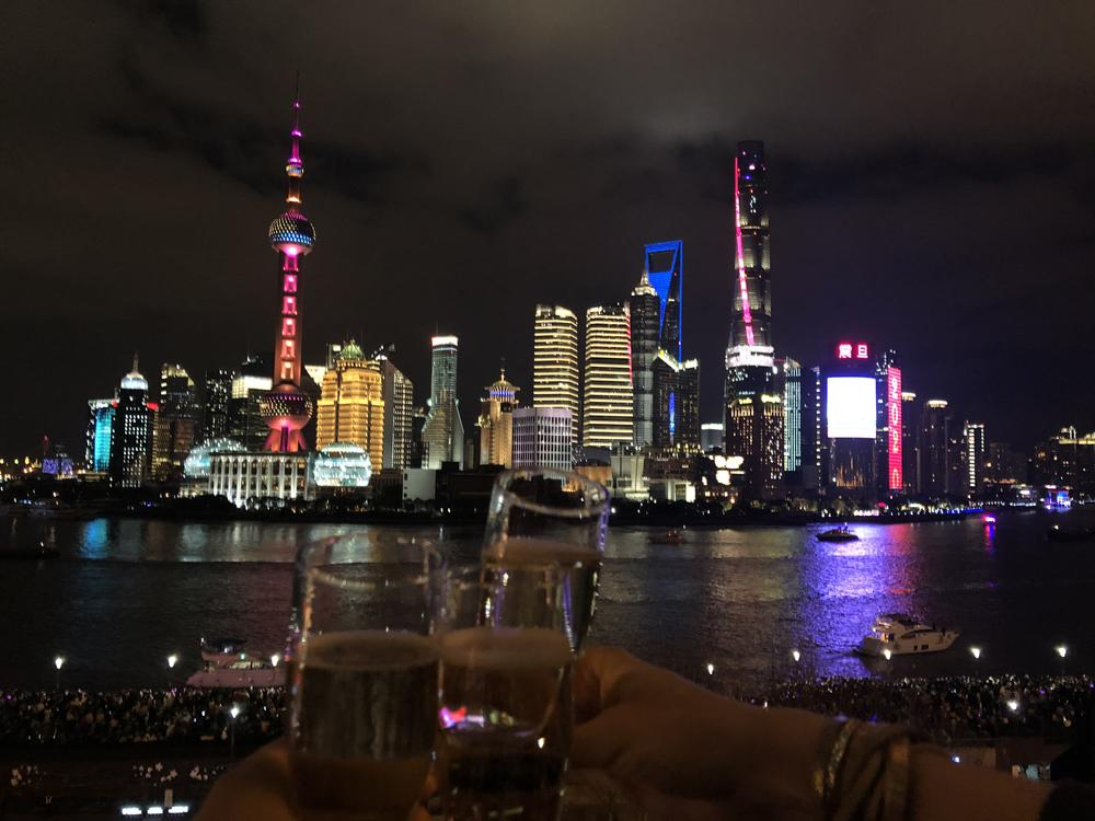 The Shanghai skyline: The view is particularly beautiful on New Year's Eve.