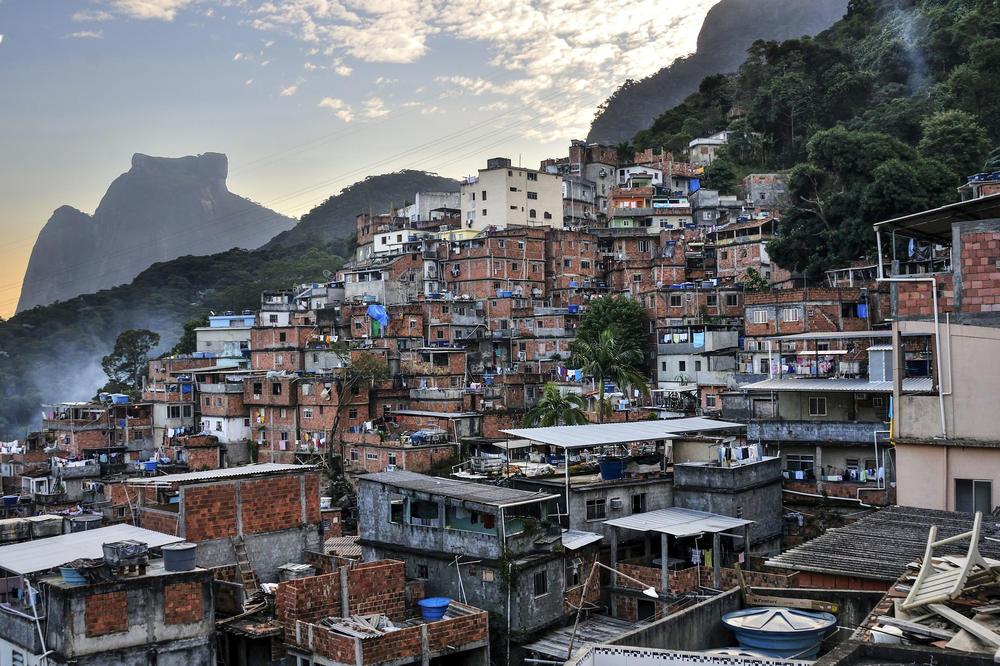 South America in focus. Rio de Janeiro's Rocinha favela.
