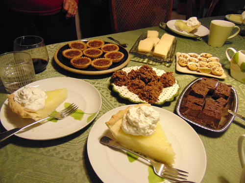 Sweet desserts: Following the Christmas dinner there was lemon pie along with other delicious sweet desserts.
