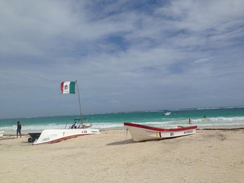 The beach in Tulum attracts many tourists – too many for the taste of our author Estefanía.