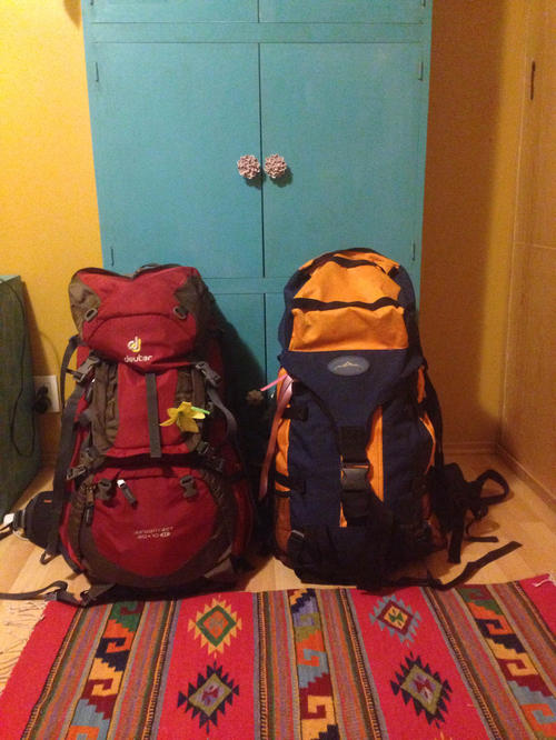 Packed backpacks: Before she starts working on her master's thesis, Estefanía González has gone traveling.