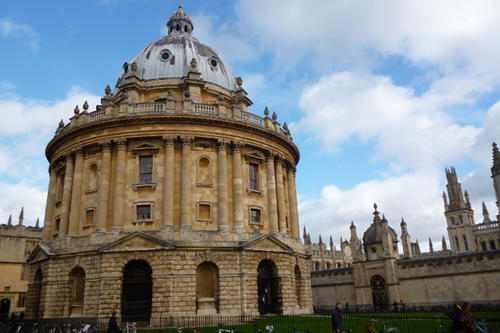 The Radcliffe Camera: the reading room building of the famous Bodleian Library.