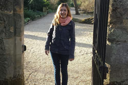 Helena Winterhager in Oxford, on a walk through the impressive gardens of Worcester College.