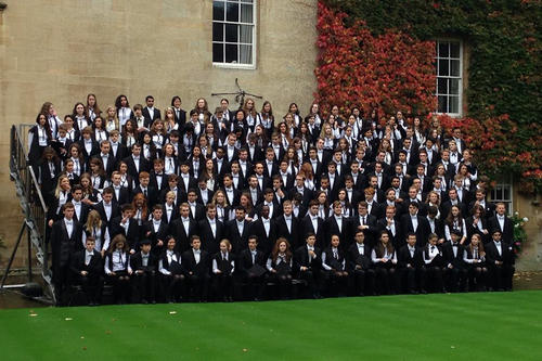 Matriculation at Lincoln College: The group of new students in October 2014.