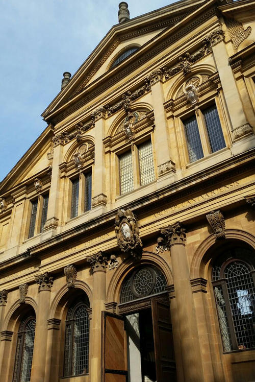The Sheldonian Theatre: the historic site of matriculation and graduation ceremonies in Oxford.
