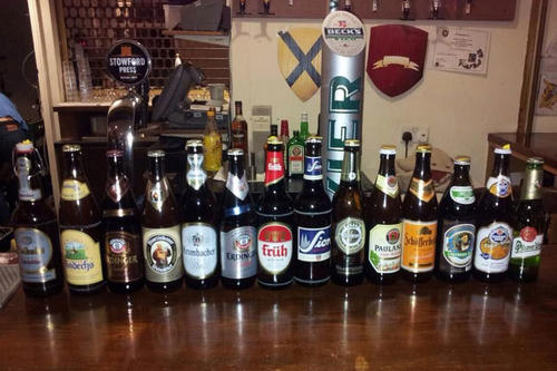 A lot of German beer had to be ordered for the Beer Tasting Event.