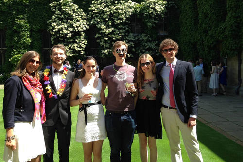 Looking forward to next summer: Shown here at a garden party at Lincoln College in June 2015.
