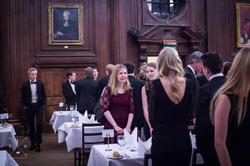 Helena Winterhager at a dinner hosted by the Oxford Scandinavian Society at Somerville College.