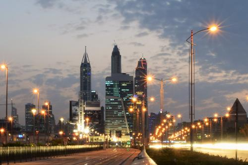 A trip to the 'big city glitz': Here the skyline of Jumeirah, a district of Dubai.