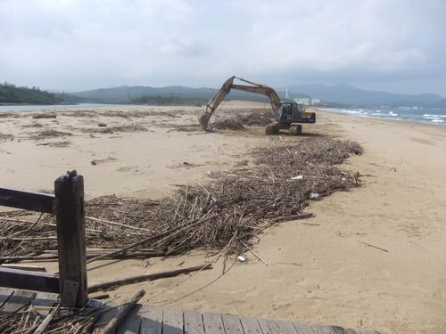 Work is being done to clean up the beaches.