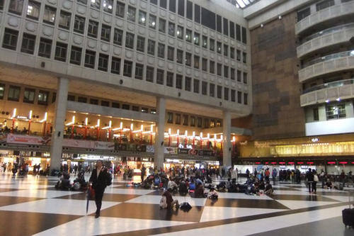 The modern Q Square Mall is connected to Taipei Main Station.