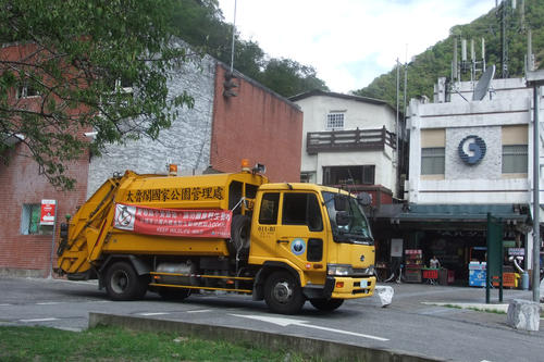 Never there, where Nora Lessing happens to be: the garbage trucks of Taipei.