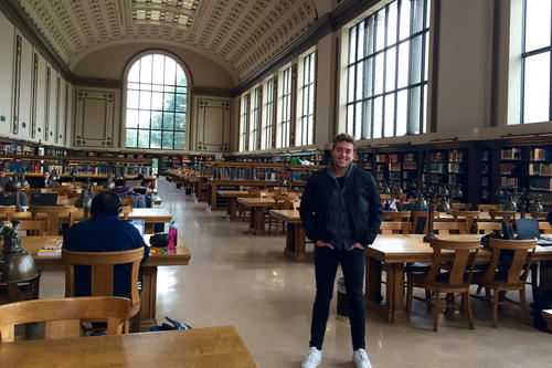 Louis Potthoff will conclude his first semester at Berkeley with final exams next week, and he is already looking forward to the next semester.