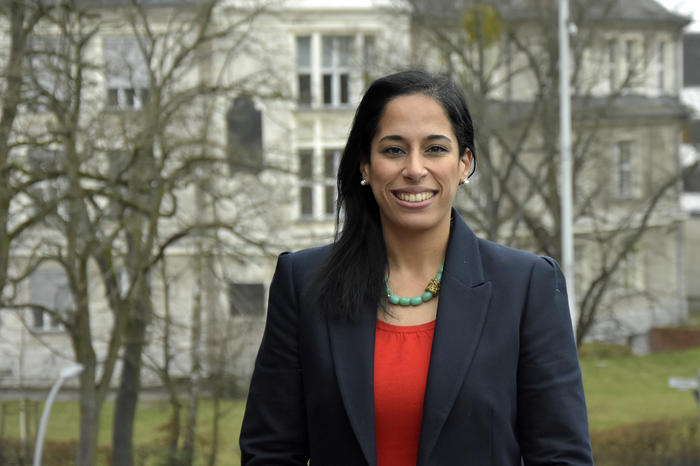 Hoda El Mahgoub on her visit to the university management of Freie Universität.