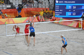 Nora Jacobs attended the German beach volleyball team's tournament during the Olympics in Rio in person.