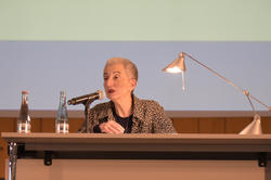 Hélène Cixous delivered the Hegel Lecture at Freie Universität Berlin on May 11, 2016.