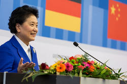 The Chinese Vice Prime Minister Liu Yandong addressed an audience in the Henry Ford Building at Freie Universität Berlin.