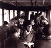 1949 – Medical students in the university shuttle tram.