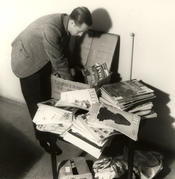 1949 – Arrival of a box of magazines donated by students at Harvard University. Many of the first books were also donations from the United States.