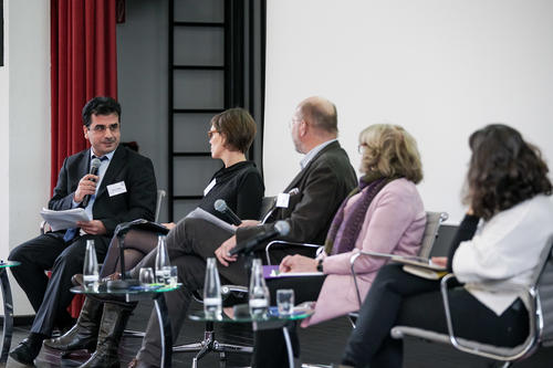 Panel discussion at the conference opening