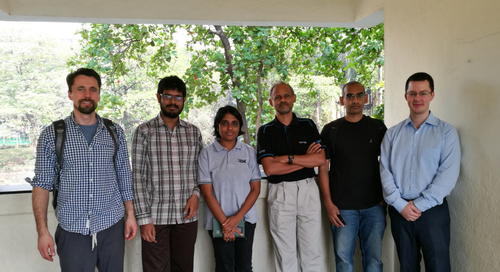 Prof. Dr. Tim Landgraf, Prof. Dr. Sharat Chandran and Dr. Stefan Diederich with students from IIT Bombay
