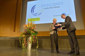 "Prof. Dr. Peter-André Alt presented the Freedom Award of Freie Universität to Carla Del Ponte, one of the ""most committed lawyers of our time."""
