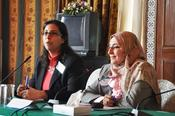 Dr. Dina Taha, Alexandria University, and Prof. Dr. Hanaa El Sayad, Ministry of Higher Education, present facts & figures about equal opportunities at Egyptian universities
