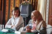 Prof. Dr. Margreth Lünenborg, Project Manager at Freie Universität Berlin, and Prof. Dr. Hanaa El Sayad, Project Coordinator in the Ministry of Higher Education