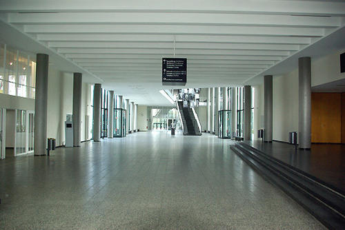 Main Foyer of the Henry Ford Building in front of the entrance to the Max Kade Auditorium