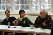 October 2016: a PhD colloquium of the Center for German Studies (ZDS) Peking in the International House: WU Rui (Martin-Luther-Universität Halle-Wittenberg), HUANG Kejie (HU Berlin), and Dr. Hartmut Eggert, professor emeritus (Freie Universität).