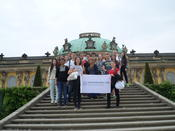 Members of the International Club of Freie Universität during an excursion to Potsdam.