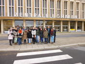 Group picture in front of the former Berlin Tempelhof airport.