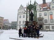 "During an excursion to Wittenberg, the ""town of Luther."""