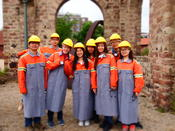 As part of a summer school at the European Academy Otzenhausen, ZDS students and students from the DAAD Center in Seoul visit the Iron Works in Dillingen.