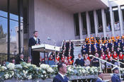 In his speech in Dahlem, President Kennedy is addressing the leaders and future leaders of Germany.