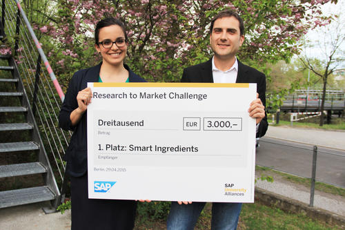 Manuela Murgueitio and Prof. Gerhard Wolber ranked first with Smart Ingredients.