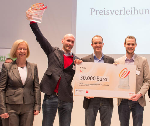 Along with the CeBIT Innovation Award came 30,000 euros in prize money for Mynigma.