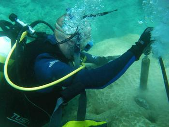 Dr. Jens Zinke drilling coral in Madagascar. The data obtained from these samples were included in the study mentioned above.