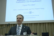 "The professor of organic chemistry presented his award-winning project ""Trans.Pro.Idee""."