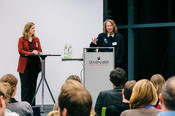 Vice president Prof. Dr. Brigitta Schütt and Prof. Dr. Miranda Schreurs opened the event.
