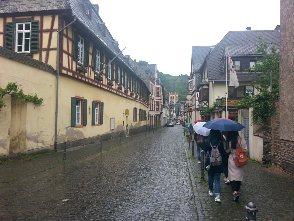 Entering the picturesque town of Bacharach.