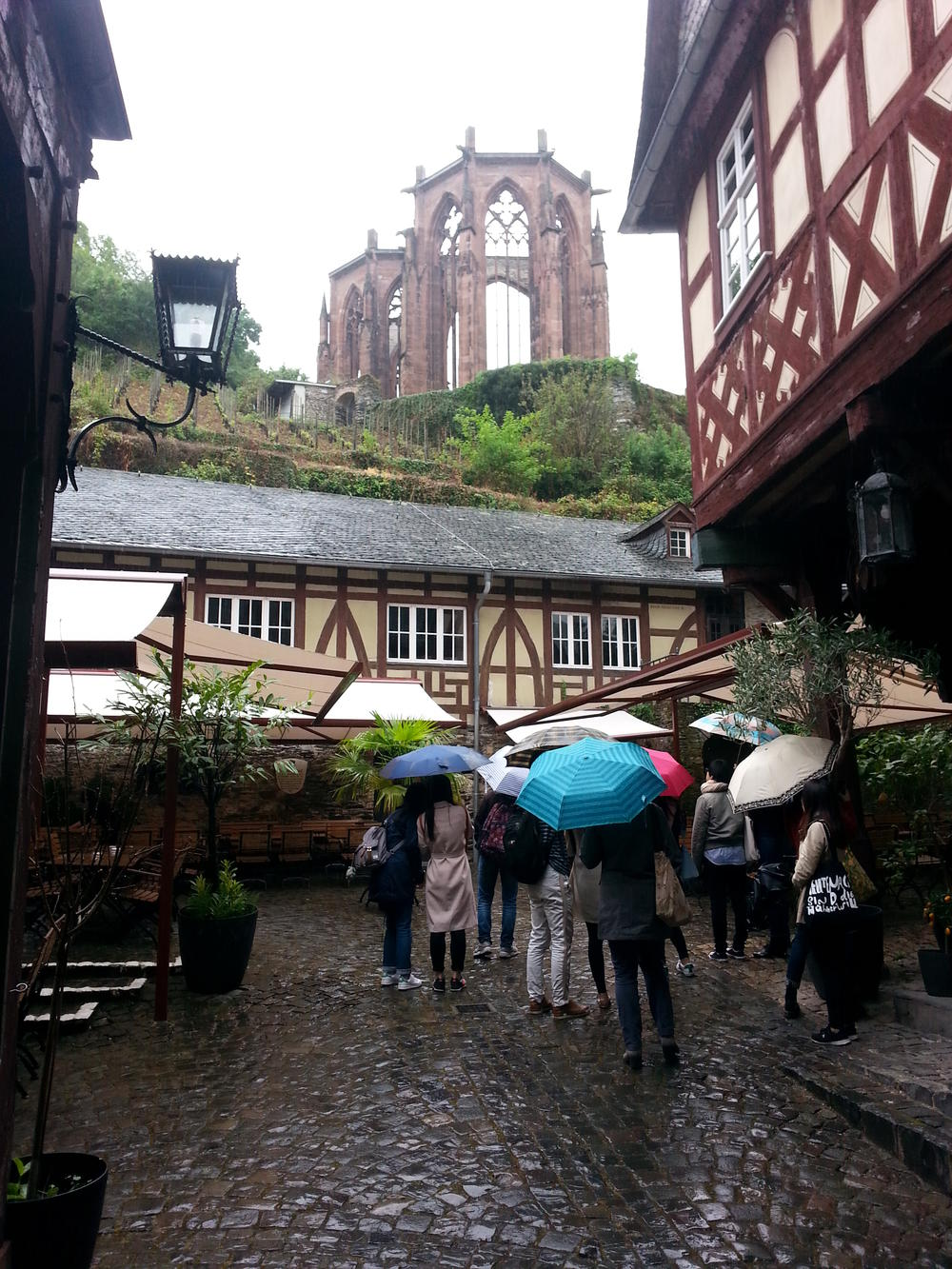 Bad wheather and beautiful views in Bacharach.