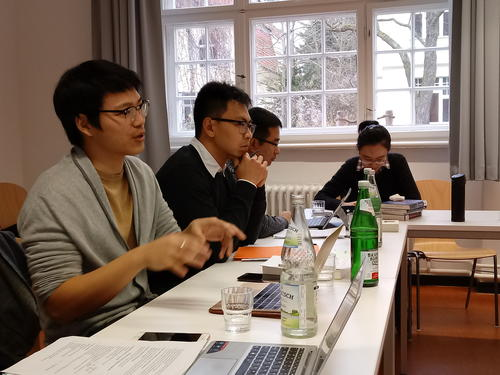 Lively discussions characterized the colloquium.